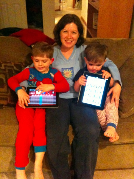 Jimmy, Peter, and Kathleen with our new iPads